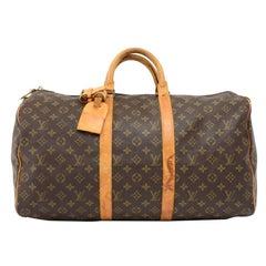 Louis Vuitton Vintage Keepall 50 Monogram Canvas Duffel Travel Bag