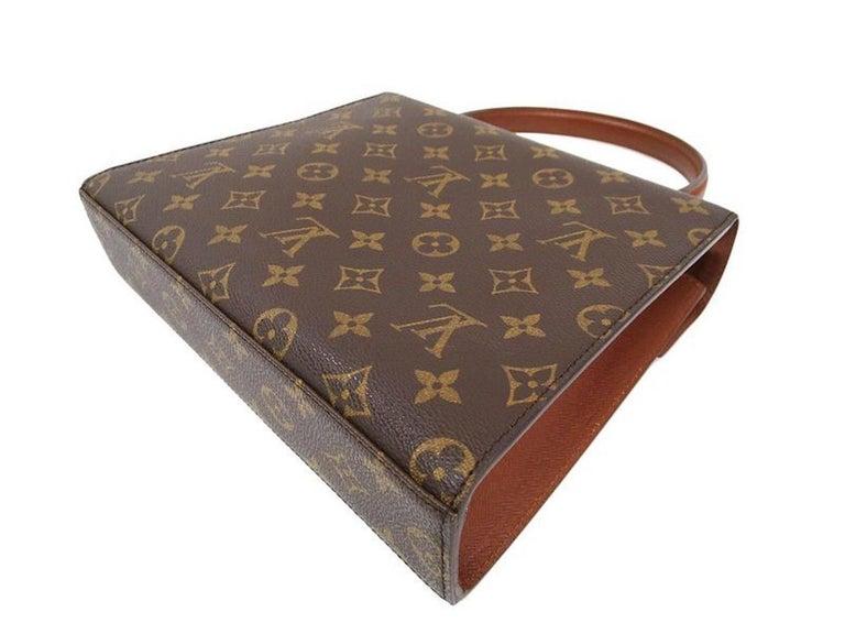 Black Louis Vuitton Vintage Kelly Style Gold Evening Top Handle Satchel Bag For Sale