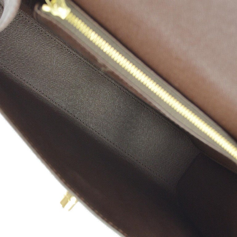 Louis Vuitton Vintage Kelly Style Gold Evening Top Handle Satchel Bag For Sale 1