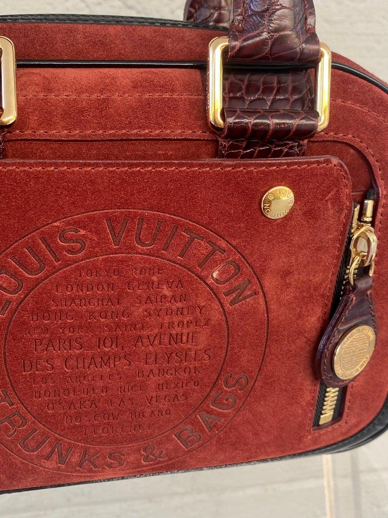 Louis Vuitton Vintage Limited Edition Havane Bowling Trunk Bag For Sale 5