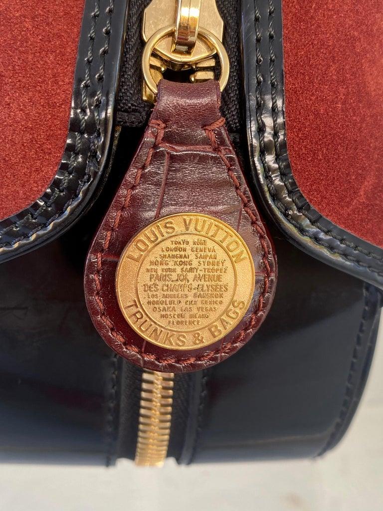 Louis Vuitton Vintage Limited Edition Havane Bowling Trunk Bag For Sale 6
