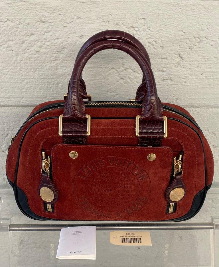 Louis Vuitton Vintage Limited Edition Havane Bowling Trunk Bag For Sale 10