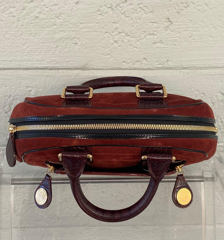 Louis Vuitton Vintage Limited Edition Havane Bowling Trunk Bag In Excellent Condition For Sale In Fort Lauderdale, FL