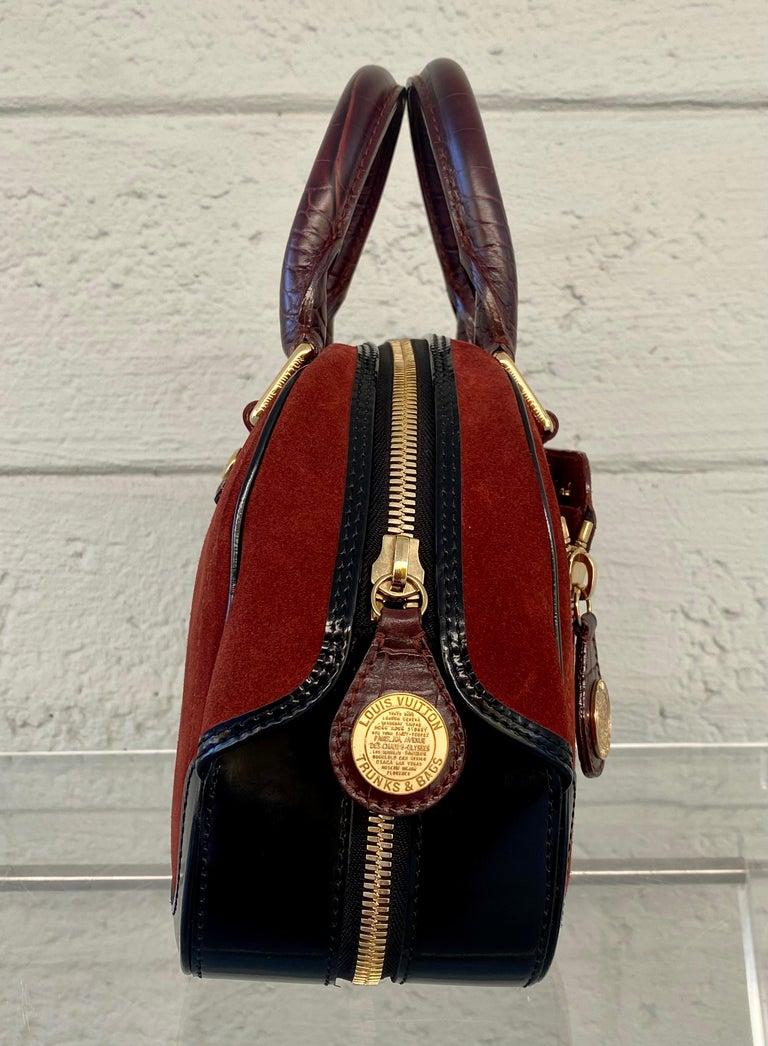 Louis Vuitton Vintage Limited Edition Havane Bowling Trunk Bag For Sale 4