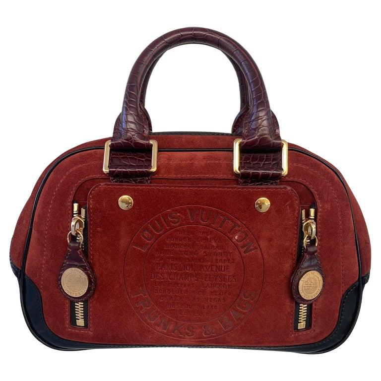 Louis Vuitton Vintage Limited Edition Havane Bowling Trunk Bag For Sale