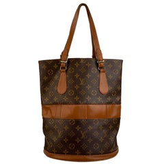 Louis Vuitton Vintage Made in USA French Co. Monogram Large Bucket Bag