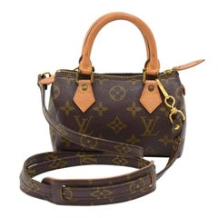 Louis Vuitton Vintage Mini Speedy Sac HL Monogram Canvas Hand Bag and Strap