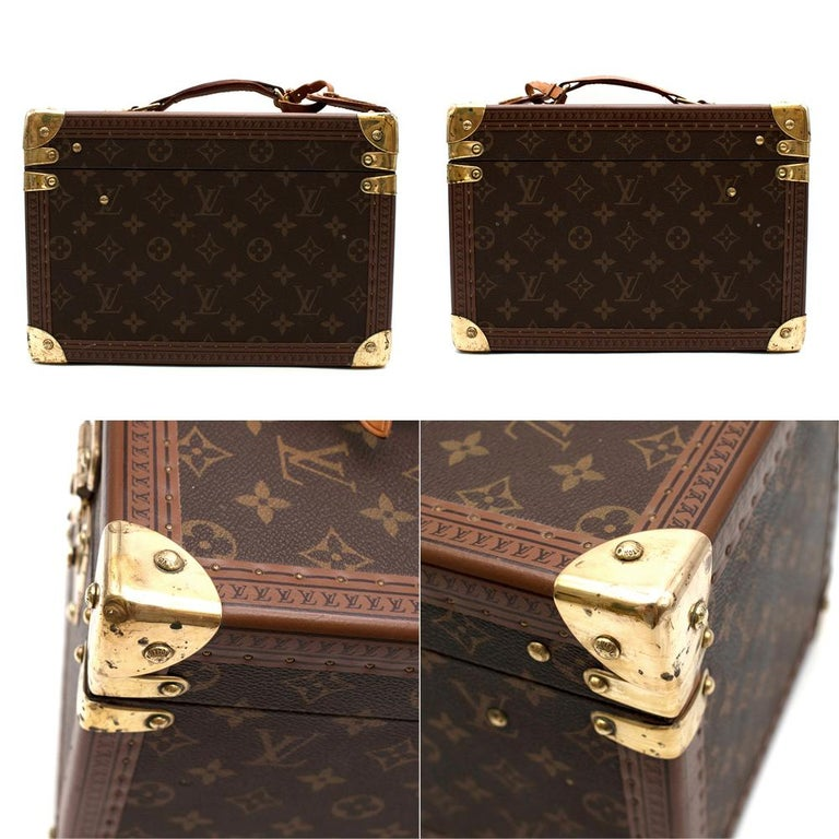 Louis Vuitton Vintage Monogram Beauty Vanity Trunk  In Excellent Condition For Sale In London, GB