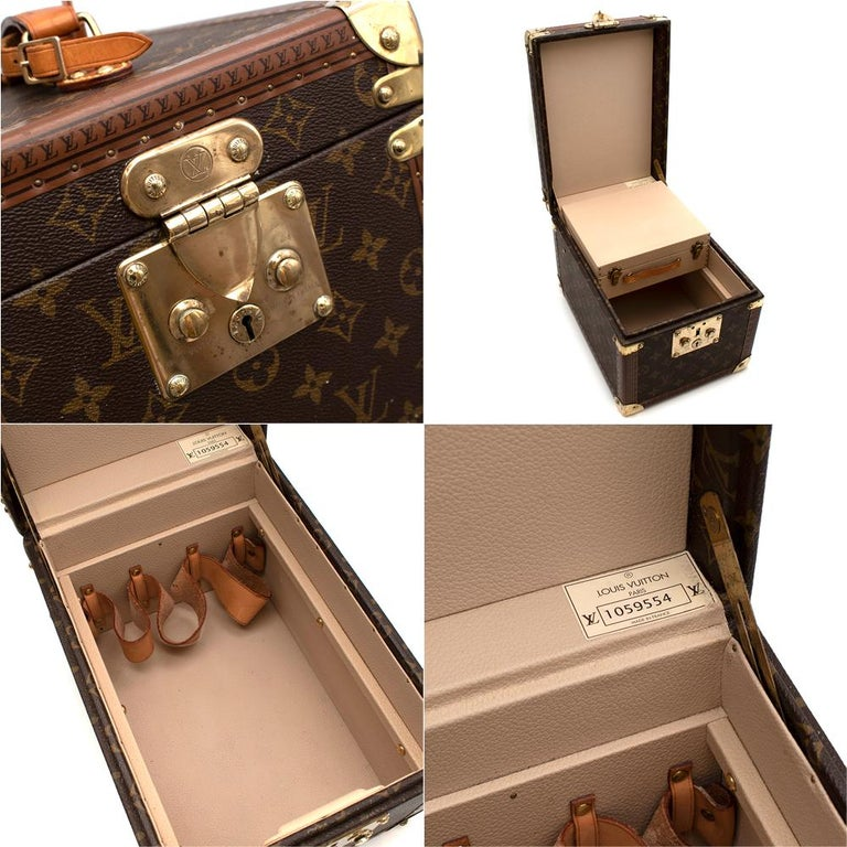 Louis Vuitton Vintage Monogram Beauty Vanity Trunk  For Sale 3