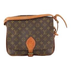 Louis Vuitton Vintage Monogram Canvas Cartouchiere Messenger Bag