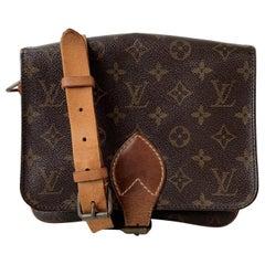 Louis Vuitton Vintage Monogram Canvas Cartouchiere MM Messenger Bag