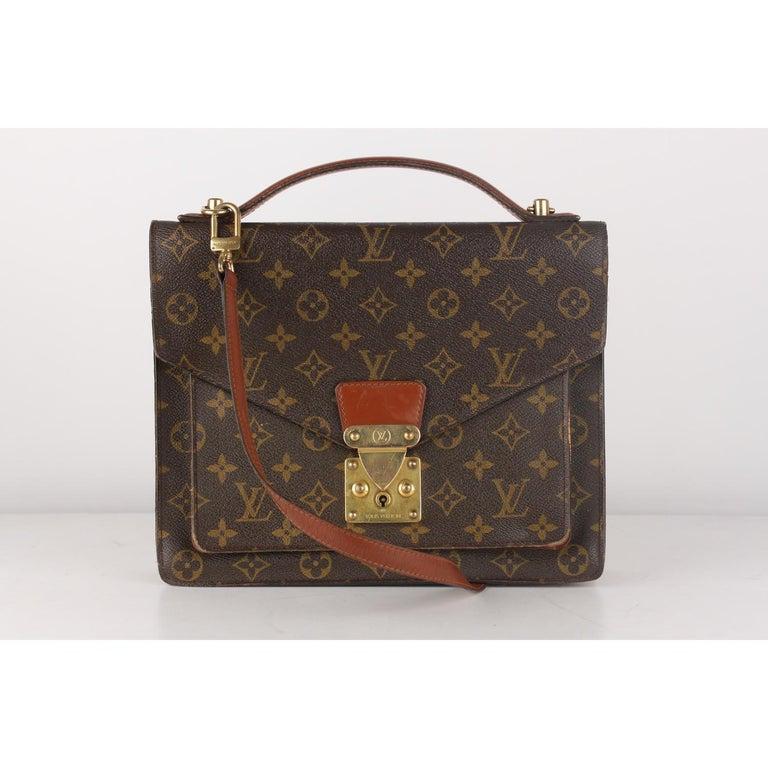 Black Louis Vuitton Vintage Monogram Canvas Monceau 28 Messenger Bag For Sale