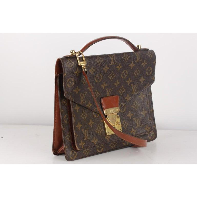 Women's Louis Vuitton Vintage Monogram Canvas Monceau 28 Messenger Bag For Sale