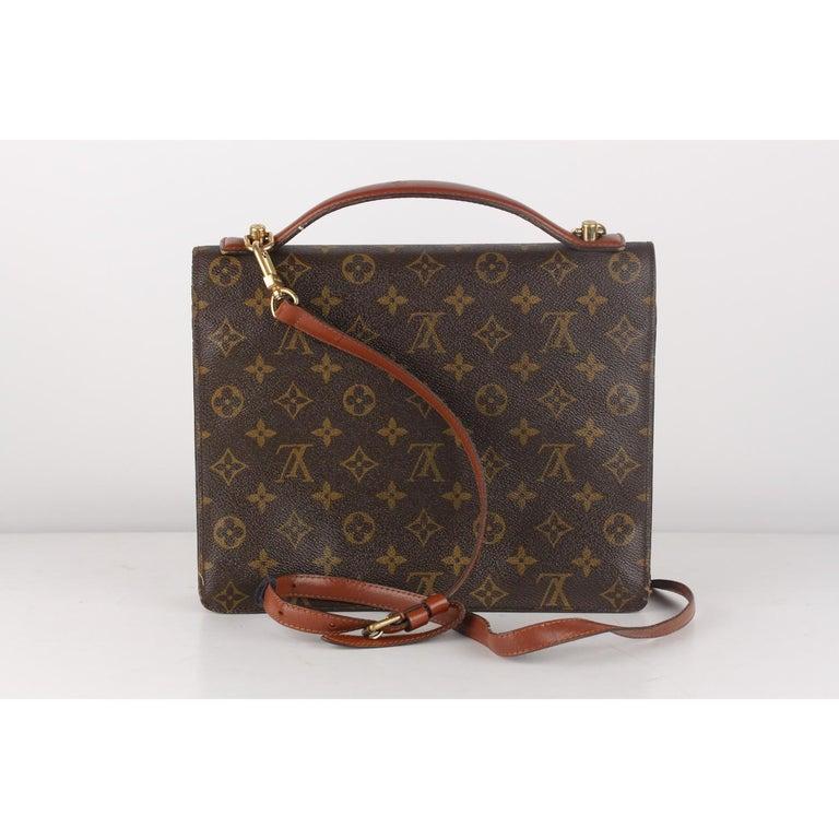 Louis Vuitton Vintage Monogram Canvas Monceau 28 Messenger Bag For Sale 1