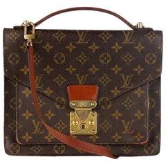 Louis Vuitton Vintage Monogram Canvas Monceau 28 Messenger Bag