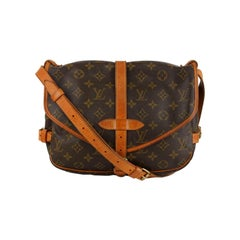 Louis Vuitton Vintage Monogram Canvas Saumur 30 Crossbody Bag