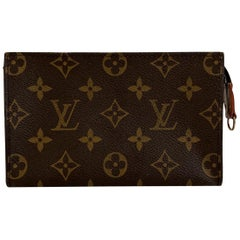 Louis Vuitton Vintage Monogram Canvas Toiletry Pouch 17 Cosmetic Bag