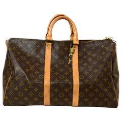 Louis Vuitton Vintage Monogram Coated Canvas Keepall 45 Duffle Bag rt. $1,450
