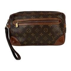 Louis Vuitton Vintage Monogram Marly Dragonne Clutch Wrist Bag