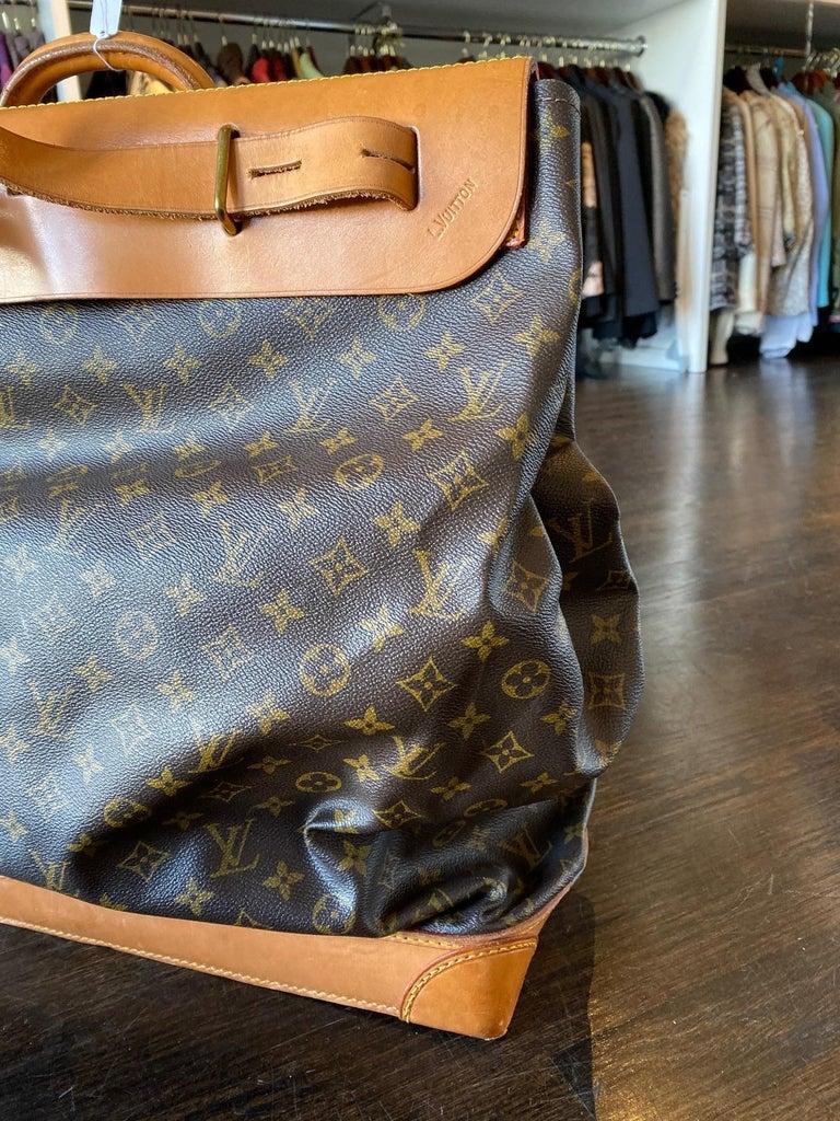 Gray Louis Vuitton Vintage Monogram Steamer Bag For Sale