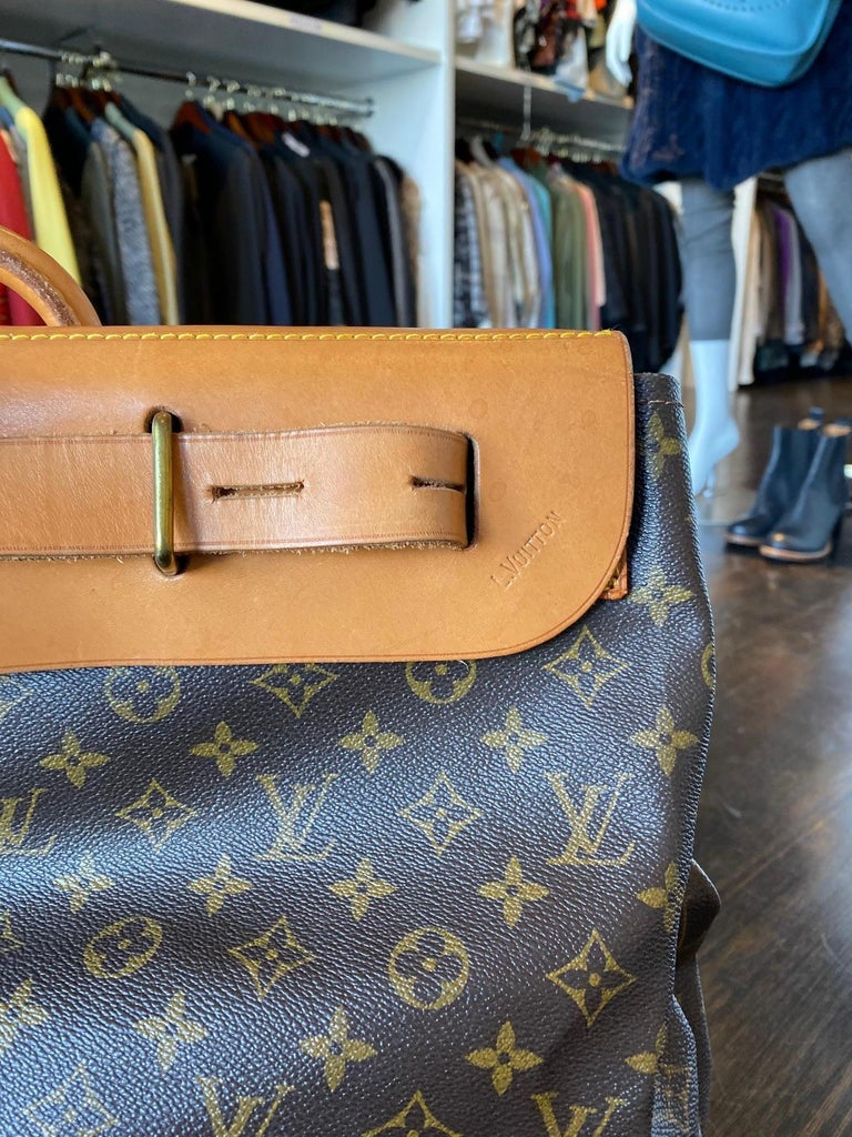 Louis Vuitton Vintage Monogram Steamer Bag In Good Condition For Sale In Roslyn, NY