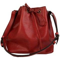 Louis Vuitton Vintage Red Epi Leather Petit Noe Shoulder Bag