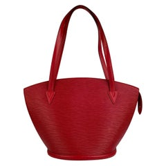 Louis Vuitton Vintage Red Epi Leather Saint Jacques Shoulder Bag