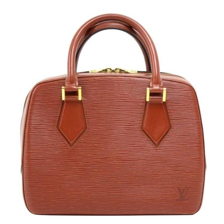 Louis Vuitton Vintage Sablon Brown Kenyan Fawn Epi Leather Hand Bag