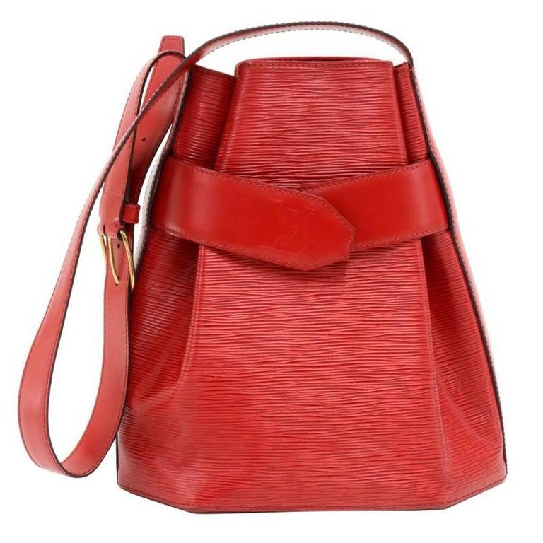 Louis Vuitton Vintage Sac Depaule PM Red Epi Leather Shoulder Bag