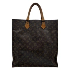 Louis Vuitton Vintage Sac Plat GM Brown Monogram Canvas Tote Bag