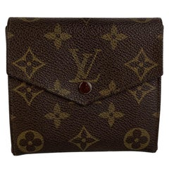 Louis Vuitton Vintage Square Double Flap Monogram Canvas Wallet
