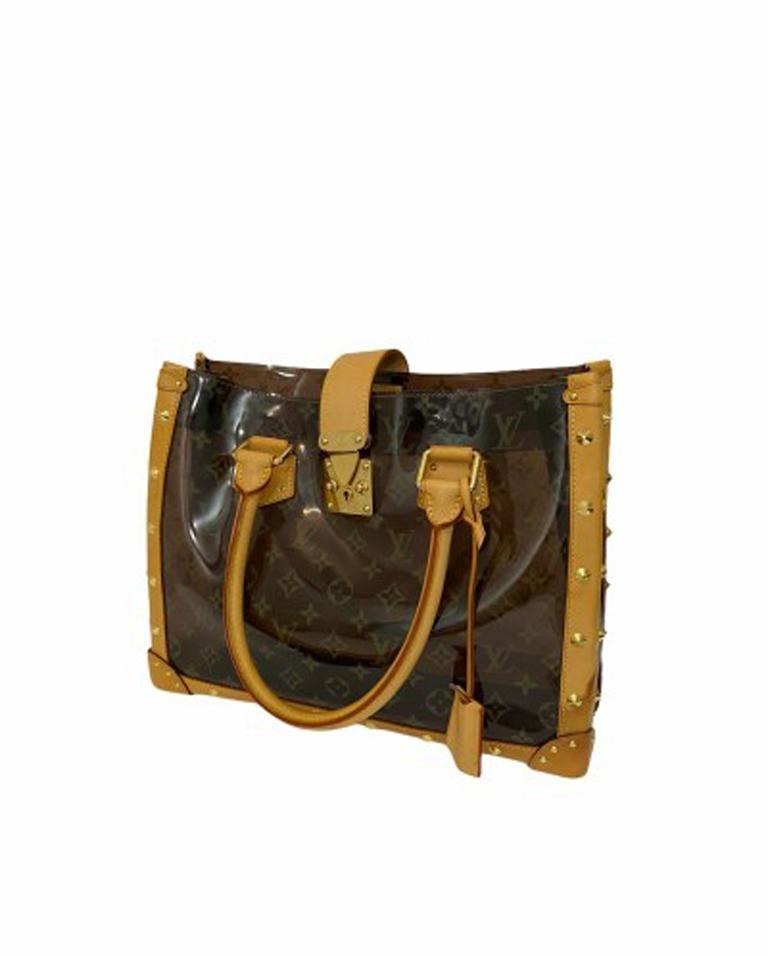 Women's Louis Vuitton Vinyl Neo Cabas Le Shoulder Bag in Brown Vinyl with Cowhide For Sale