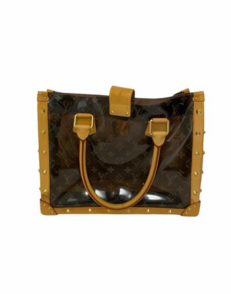 Louis Vuitton Vinyl Neo Cabas Le Shoulder Bag in Brown Vinyl with Cowhide For Sale 1