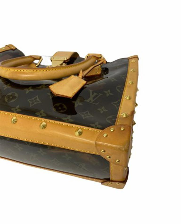 Louis Vuitton Vinyl Neo Cabas Le Shoulder Bag in Brown Vinyl with Cowhide For Sale 3