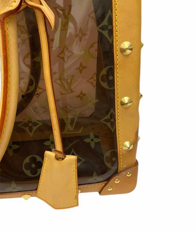 Louis Vuitton Vinyl Neo Cabas Le Shoulder Bag in Brown Vinyl with Cowhide For Sale 5