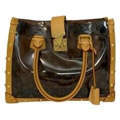 Louis Vuitton Vinyl Neo Cabas Le Shoulder Bag in Brown Vinyl with Cowhide