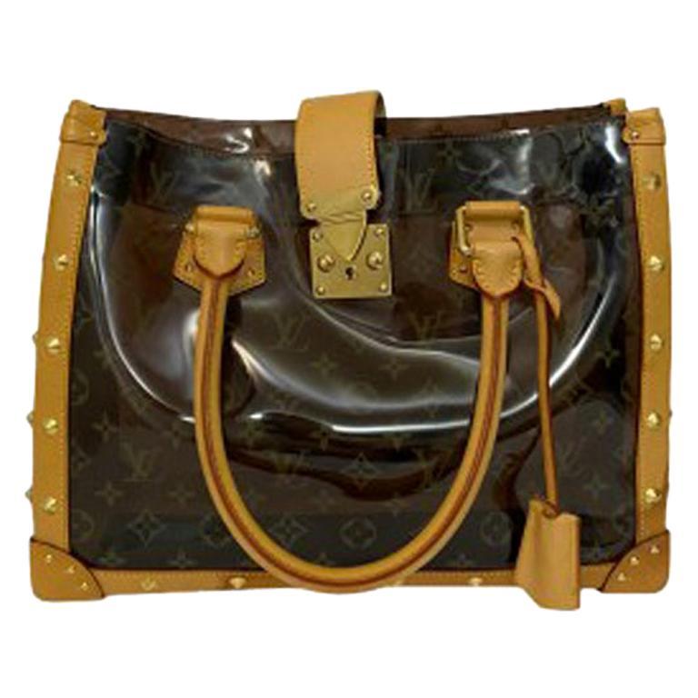 Louis Vuitton Vinyl Neo Cabas Le Shoulder Bag in Brown Vinyl with Cowhide For Sale