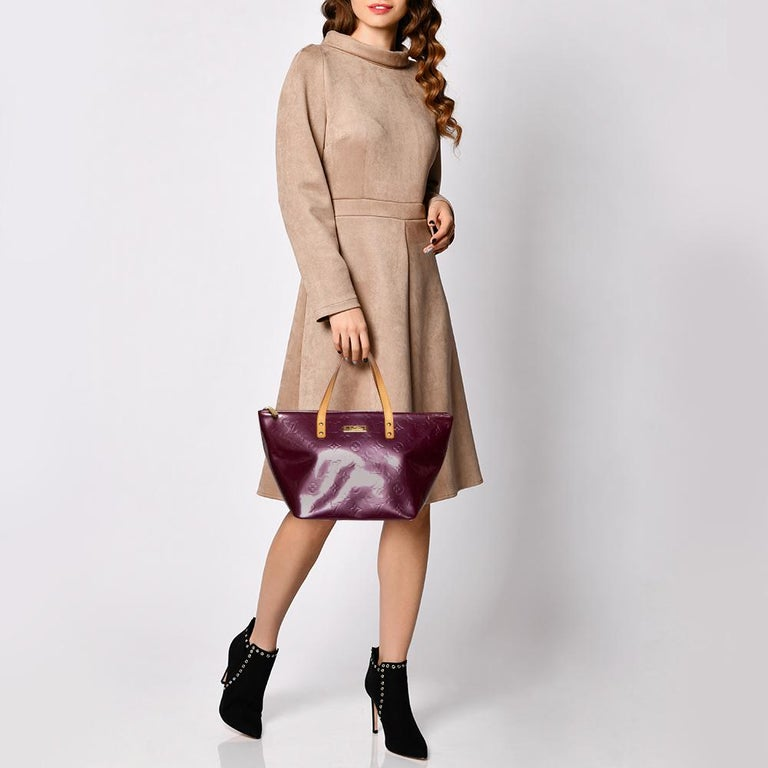 Louis Vuitton Violette Monogram Vernis Bellevue PM Bag 7