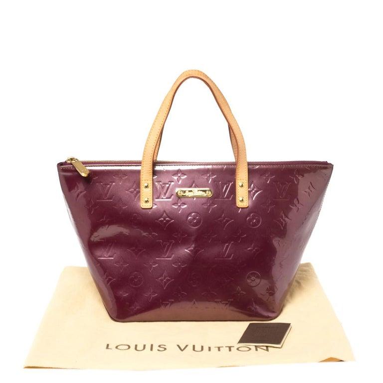 Women's Louis Vuitton Violette Monogram Vernis Bellevue PM Bag