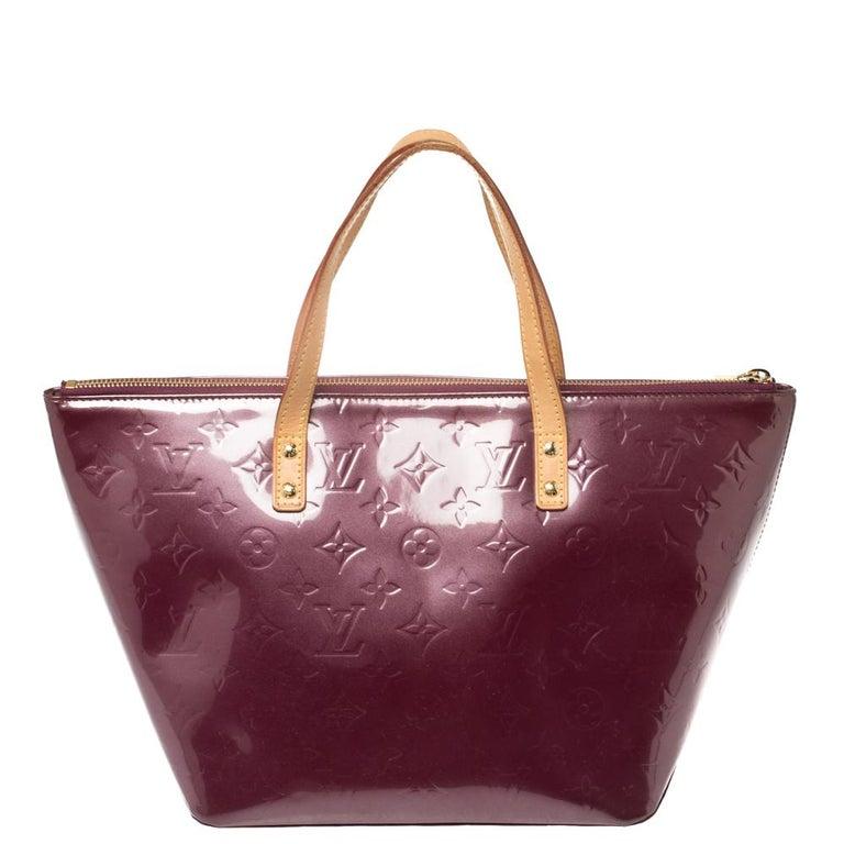 Louis Vuitton Violette Monogram Vernis Bellevue PM Bag 4