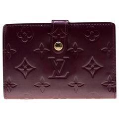 Louis Vuitton Violette Monogram Vernis Leather French Purse Wallet