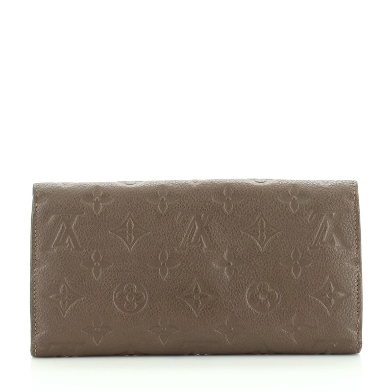 Gray Louis Vuitton Virtuose Wallet Monogram Empreinte Leather