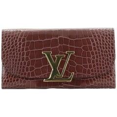 Louis Vuitton Vivienne LV Wallet Alligator Long