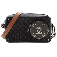 Louis Vuitton Volga On Strap Bag Monogram Eclipse Canvas with Monogram Leather