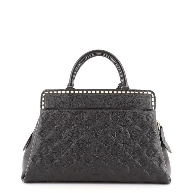 Louis Vuitton Vosges Handbag Whipstitch Monogram Empreinte Leather MM In Good Condition For Sale In New York, NY
