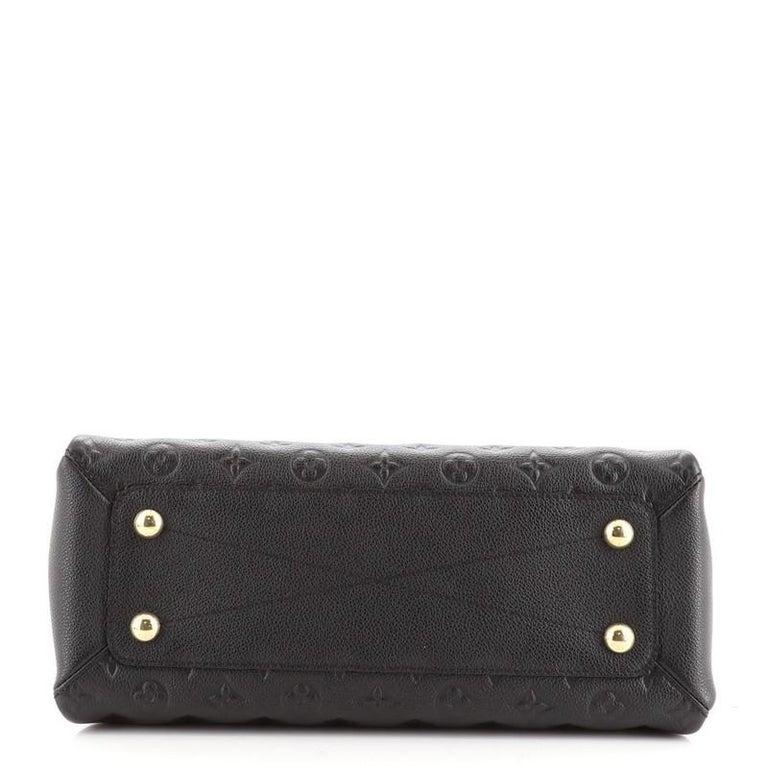 Women's or Men's Louis Vuitton Vosges Handbag Whipstitch Monogram Empreinte Leather MM For Sale