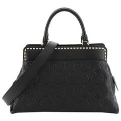Louis Vuitton Vosges Handbag Whipstitch Monogram Empreinte Leather MM