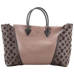 Louis Vuitton W Tote Monogram Tuffetage Leather PM