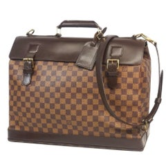 LOUIS VUITTON Waist end PM unisex business bag N41130 Damier ebene