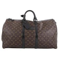 Louis Vuitton Waterproof Keepall Bandouliere Bag Monogram Canvas 55